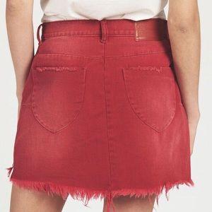 10a40d6a23db75 One Teaspoon Skirts - One Teaspoon Vanguard Red Envy Mini